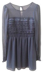 Free People short dress Grey Vintage Lace Feminine on Tradesy