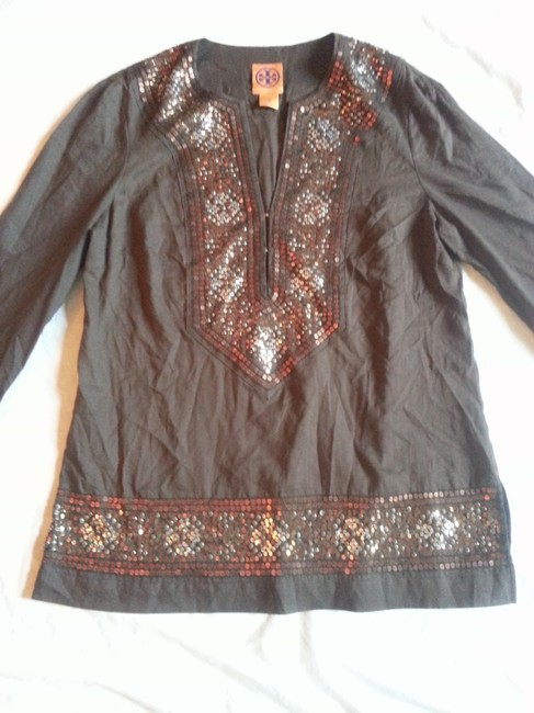 Tory Burch Sequin Embellished Cotton Boho Tunic