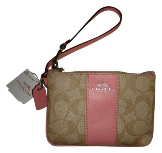 Preload https://item5.tradesy.com/images/coach-signature-trim-strap-zipper-khaki-and-pink-leather-wristlet-10590724-0-1.jpg?width=440&height=440