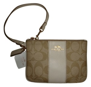 Coach Wristlet in Khaki & Chalk