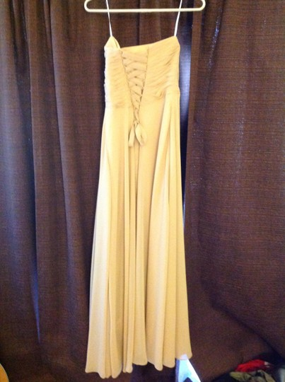 Champagne Chiffon Formal Bridesmaid/Mob Dress Size 2 (XS)