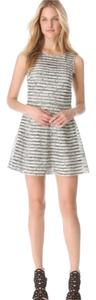 Parker Mesh Patterned Abstract Sleeveless Crewneck Above The Knee Dress