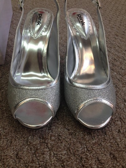 Paradox London Pink Silver Pumps Size US 6.5