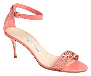 Manolo Blahnik Chaos Coral Pink Sandals