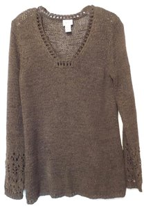 Chico's Oversized Tunic Pullover Sweater