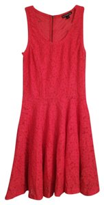 Express short dress Coral Crochet Sleeveless Flowy on Tradesy