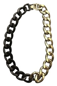 River Island Dual color Black Matte/Gold Chain Necklace