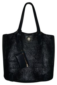 Tory Burch Leather Tote in Normandy Blue