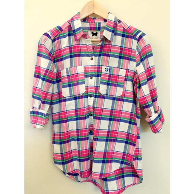 Gilly Hicks Button Down Shirt Pink