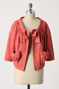 Anthropologie XS Ripe Berry Jacket