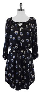 Rebecca Taylor short dress Black Floral Print on Tradesy