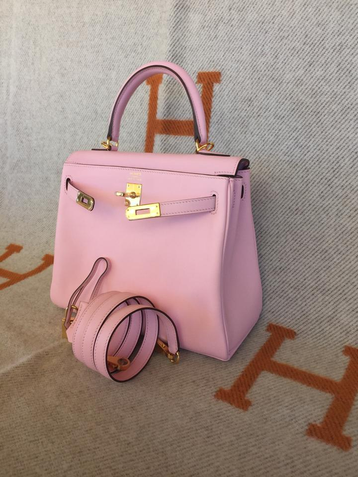 cheap authentic hermes bags - Herm��s New Kelly 25cm Swift Gold Hardware Pink Rose Sakura Tote ...