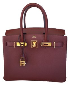 Hermès New100 Kelly Prunoir Tote in RED ROUGE HERMES