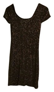 Forever 21 short dress black, glitter Mini Sparkle on Tradesy