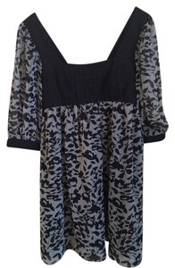 Other short dress Black Print Floral Flowy on Tradesy