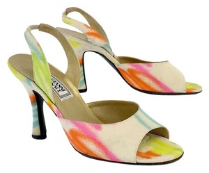 Versace Rainbow Print Slingbacks Sandals