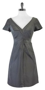 Susana Monaco short dress Grey Pleated Silk on Tradesy
