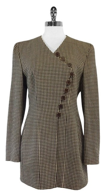 Preload https://item4.tradesy.com/images/giorgio-armani-brown-houndstooth-wool-size-8-m-10595248-0-1.jpg?width=400&height=650