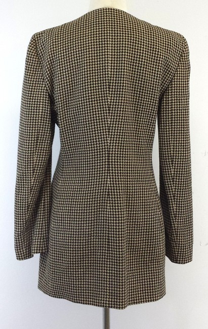 Giorgio Armani Brown Houndstooth Wool Jacket