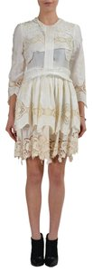 Just Cavalli short dress Ivory on Tradesy