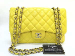 Chanel Caviar Cf Classic Jumbo Shoulder Bag
