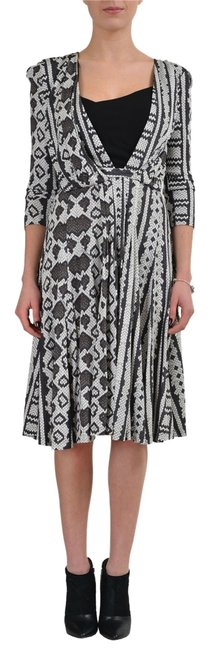 Preload https://item5.tradesy.com/images/just-cavalli-multi-color-34-sleeves-women-s-sheath-s-it-40-mid-length-short-casual-dress-size-4-s-10595494-0-1.jpg?width=400&height=650