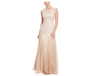 Sue Wong Champagne Nylon / Polyester Vintage Wedding Dress Size 6 (S)