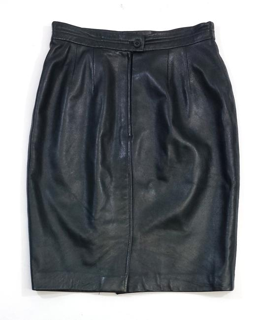 Carlisle Dark Green Leather Pencil Pencil Skirt