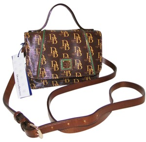 Dooney & Bourke Small Leather Trim Coated Cotton 1975 Collection Cross Body Bag