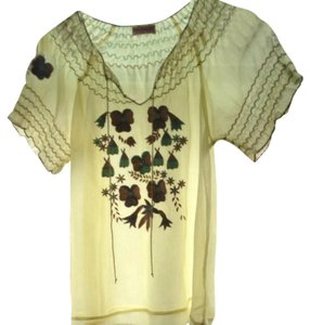 Miss Selfridge Top Pale Yellow