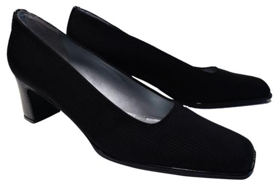 Preload https://item3.tradesy.com/images/stuart-weitzman-black-sleek-woven-fabric-with-patent-accents-pumps-size-us-85-narrow-aa-n-10596052-0-1.jpg?width=440&height=440