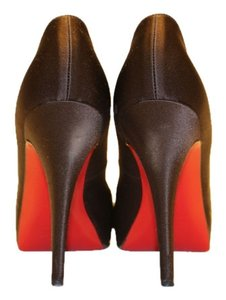 Christian Louboutin Satin Brown Pumps