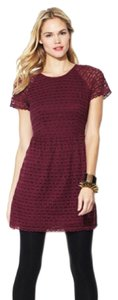 Free People short dress Burgundy Lace Tunic on Tradesy