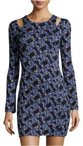 Lucca Couture short dress Blue, Black, White on Tradesy