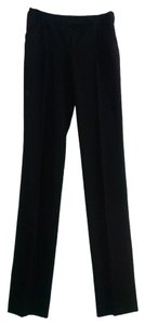 Valentino Italian Wool Silk Made In Italy Dress Career Trouser Pants Black
