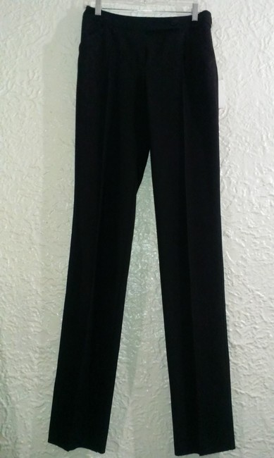 Valentino Wool Silk Made In Italy Straight Pants