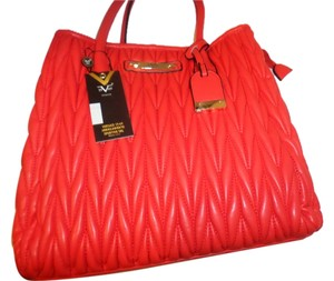 VERSACE 1969 Tote in Coral Red