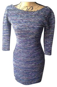 Lily Rose Multicolored Scoop Back Bodycon Dress