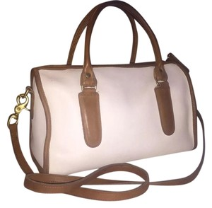 Coach Vintage Satchel in Tan and Ivory