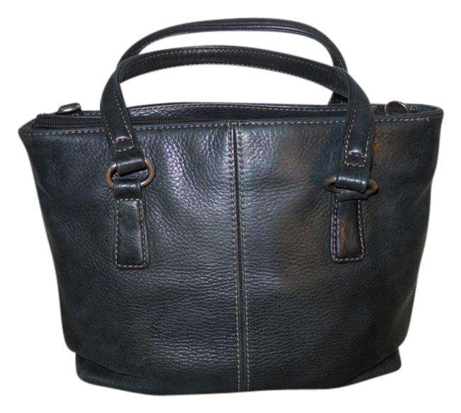 Item - Convertable Small Tote Dark Green Leather Cross Body Bag