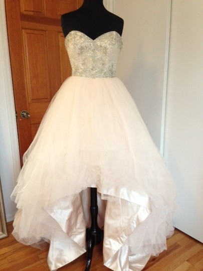 Impression Bridal Blush Tulle 25709 Modern Wedding Dress Size 8 (M)