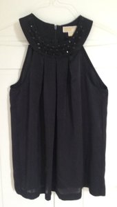 Michael Kors Blouse Blouse Shirt Embellished Jewels Embellished Neckline Halter Halter Size 6 6 Designer Holiday Going Out Top Black