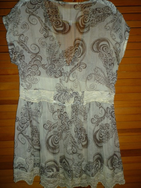 For Love and Liberty Skulls Lace Silk Tunic