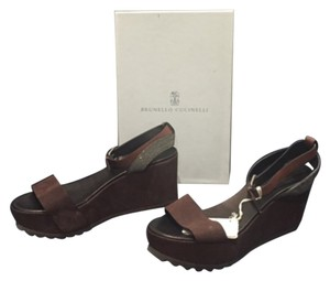 Brunello Cucinelli Chocolate brown Wedges