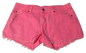 7 For All Mankind Cut Off Shorts Pink