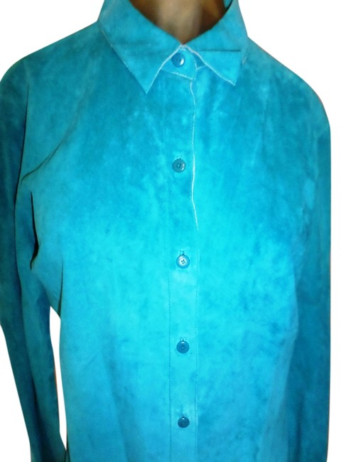 Preload https://img-static.tradesy.com/item/10597801/express-teal-shirt-genuine-suede-1314-button-down-top-size-14-l-0-1-650-650.jpg