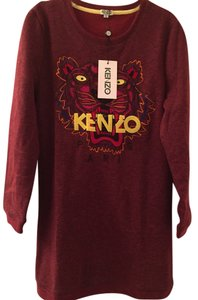 Kenzo short dress Wine/Multi on Tradesy