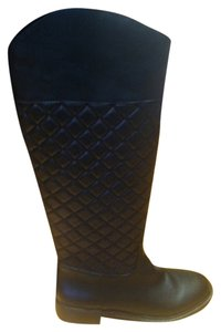 Victoria's Secret Quilted Riding Black Boots