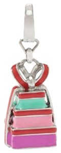 Fossil Fossil Silvertone Colorful Enamel Stacked Presents Charm