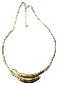 Gold Plated Overlay Glossy Metal Necklace Gold Plated Overlay Glossy Metal Necklace